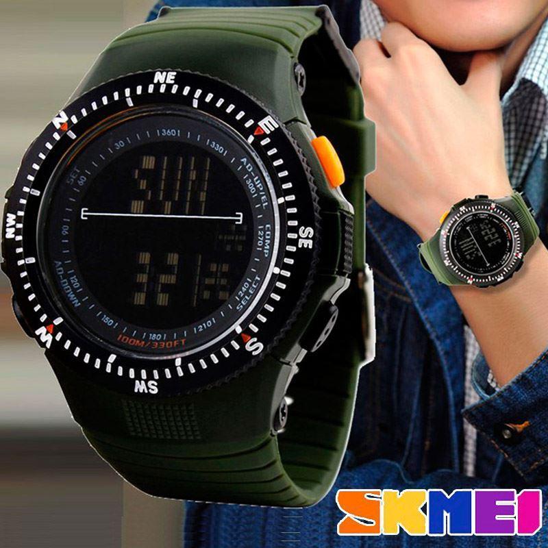 Cпортивные мужские часы Skmei(Скмей) 0989  Green