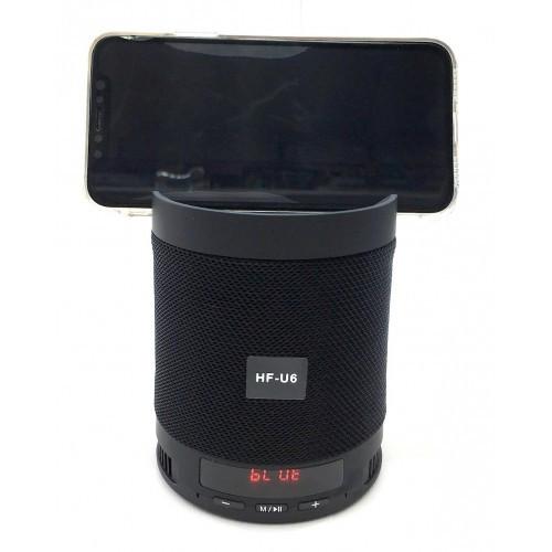Портативная Bluetooth колонка Q3 (HF-U6) с подставкой для телефона