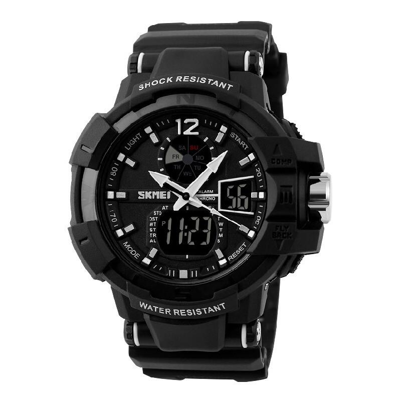 Cпортивные мужские часы Skmei(Скмей) 1040 Black