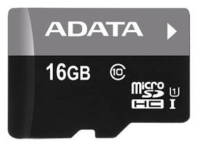 Карта памяти Adata MicroSDHC 16GB Class 10