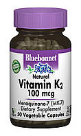 Витамин К2 100мкг, Bluebonnet Nutrition, 50 гелевых капсул