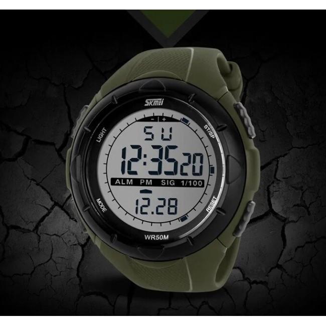 • Гарантия! Skmei(Скмей) 1025 Dive Green  / Cпортивные мужские часы !