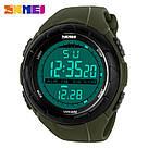 • Гарантия! Skmei(Скмей) 1025 Dive Green  / Cпортивные мужские часы !, фото 4