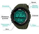 • Гарантия! Skmei(Скмей) 1025 Dive Green  / Cпортивные мужские часы !, фото 5