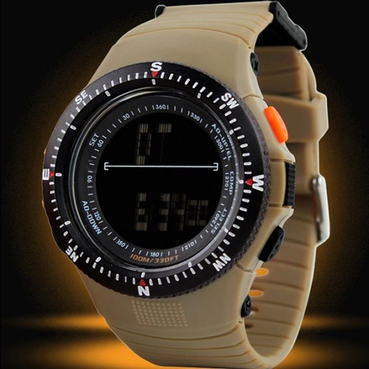 Cпортивные мужские часы Skmei (Скмей) 0989 койот Khaki