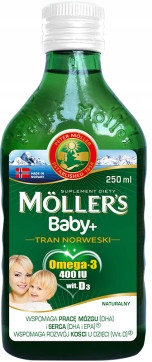 Рыбий жир  Baby +  (Норвегия) натуральный Mollers Tran  250 ml