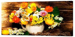 Картина на полотні Декор Карпати Квіти 50х100 см (c517)