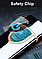 Зажигалка Lighter 717 спиральная бордовая, фото 4