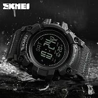 Часы тактические SKMEI (Скмей)1358 Black  PROCESSOR с шагомером и барометром