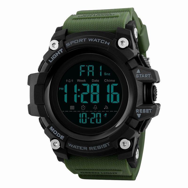 Оригинальные спортивные мужские часы SKMEI (СКМЕЙ) 1384 Green