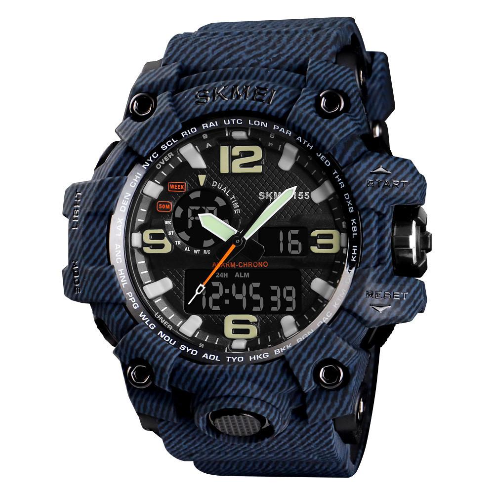Тактические мужские часы Skmei(Скмей) 1155 HAMLET Jeans