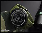Оригинальные спортивные мужские часы Skmei (Скмей) Amigo 1251 Green / black / black red, фото 2