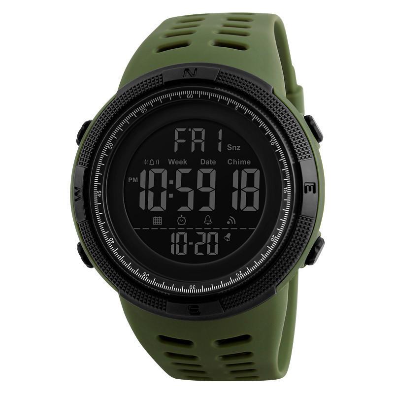 Оригинальные спортивные мужские часы Skmei (Скмей) Amigo 1251 Green / black / black red