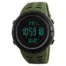 Оригинальные спортивные мужские часы Skmei (Скмей) Amigo 1251 Green / black / black red, фото 3