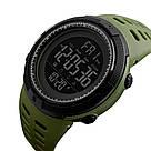 Оригинальные спортивные мужские часы Skmei (Скмей) Amigo 1251 Green / black / black red, фото 5