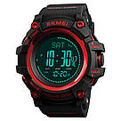 Часы SKMEI (Скмей)1358  Red PROCESSOR с шагомером и барометром, фото 2