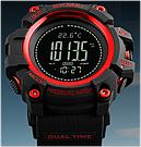 Часы SKMEI (Скмей)1358  Red PROCESSOR с шагомером и барометром, фото 3