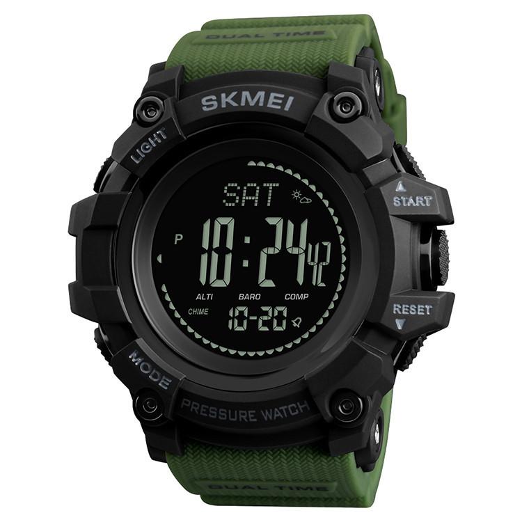 Часы SKMEI (Скмей)1358 Green  PROCESSOR с шагомером и барометром