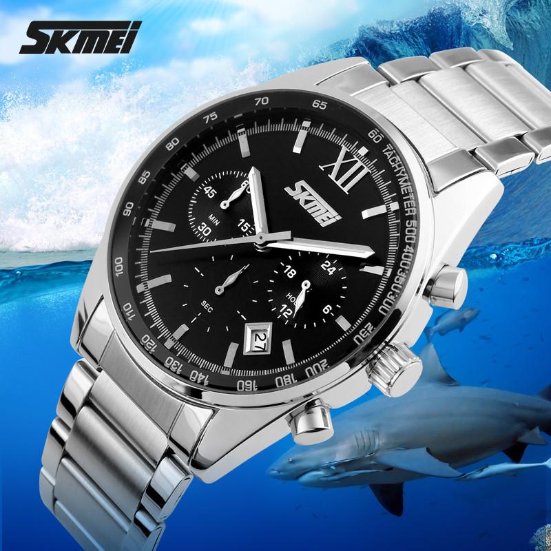 Мужские часы Skmei (Скмей) 9096 / Skmei Tandem Black