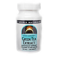 Экстаракт Листьев Зеленого Чая 100мг, Source Naturals, 120 таблеток