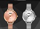 Оригинальные классические женские часы Skmei (Скмей)1291  Angelus Silver, фото 5