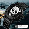 Оригинальные  часы Skmei (Скмей) Skull Black-Silver 9178, фото 5