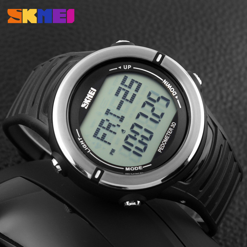 Cпортивные часы c пульсометром Skmei(Скмей) 1111 Pulse Black