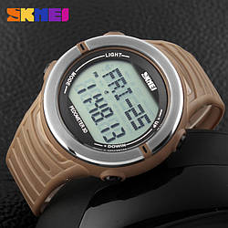 Cпортивные часы c пульсометром Skmei(Скмей) 1111 Pulse Khaki