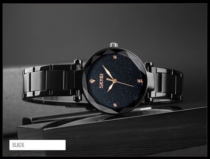 Оригинальные классические женские часы Skmei Miss Black 9180