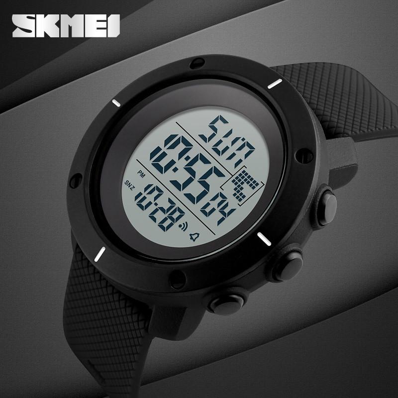 Cпортивные мужские часы с шагомером Skmei (Скмей) 1213 Dekker Black