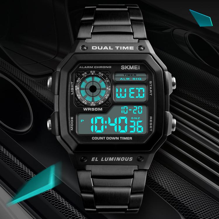 Классические  часы Skmei(Скмей) Ripple Black 1335