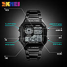 Классические  часы Skmei(Скмей) Ripple Black 1335, фото 3
