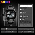 Классические  часы Skmei(Скмей) Ripple Black 1335, фото 4