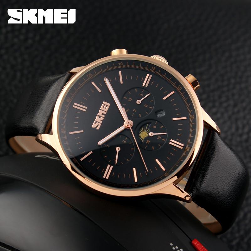 Классические мужские часы SKMEI(СКМЕЙ) Black Gold 9117
