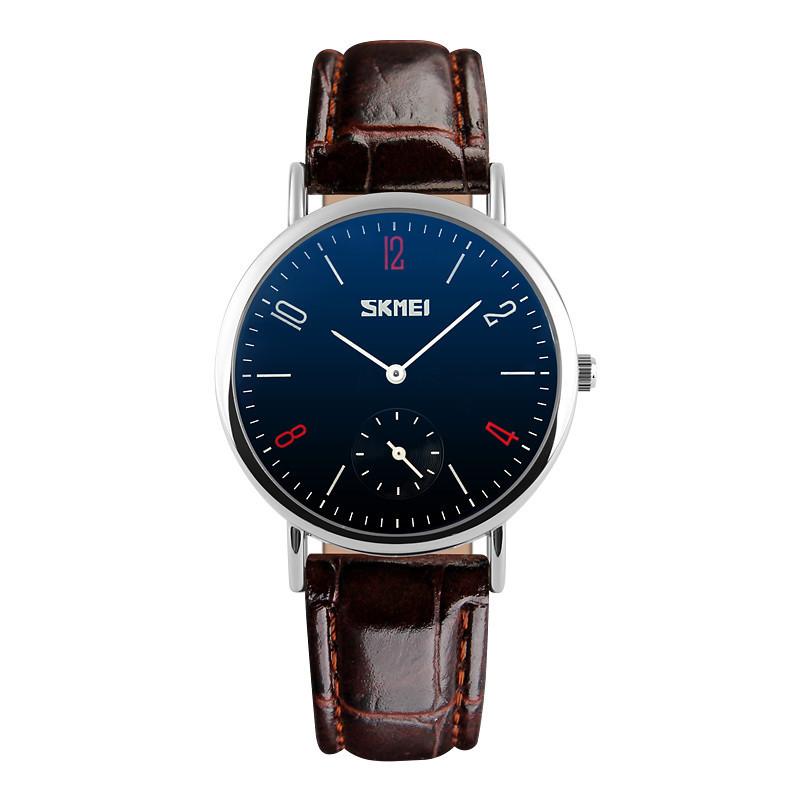 Классические часы SKMEI(СКМЕЙ) Braun blue ledi 9120