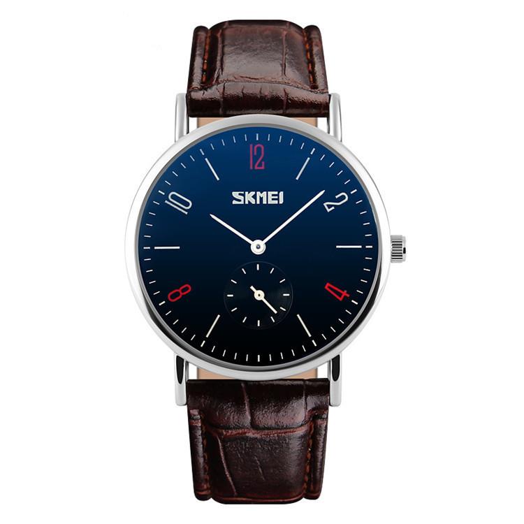 Классические мужские часы !SKMEI(СКМЕЙ) Braun blue men 9120