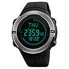 Cпортивные мужские часы с компасом Skmei(Скмей) 1294 COMPASS  Black, фото 3