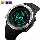 Cпортивные мужские часы с компасом Skmei(Скмей) 1294 COMPASS  Black, фото 5