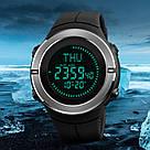 Cпортивные мужские часы с компасом Skmei(Скмей) 1294 COMPASS  Black, фото 7