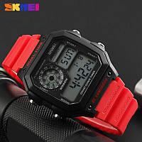 Оригинальные мужские часы Skmei(Скмей) Black Red 1299