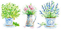 Картина на холсте Декор Карпаты Цветы 50х100 см (d1342)