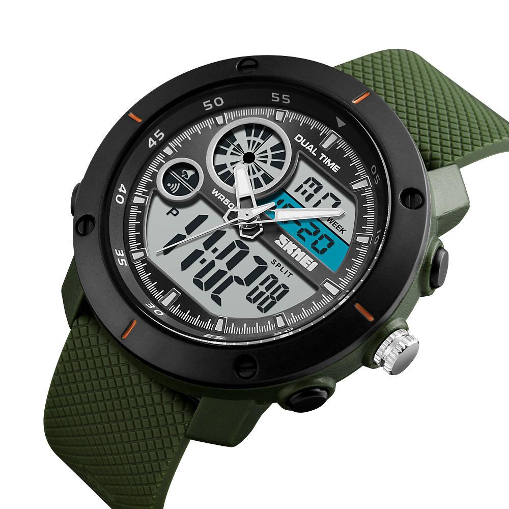 Cпортивные мужские часы Skmei (Скмей) 1361Green