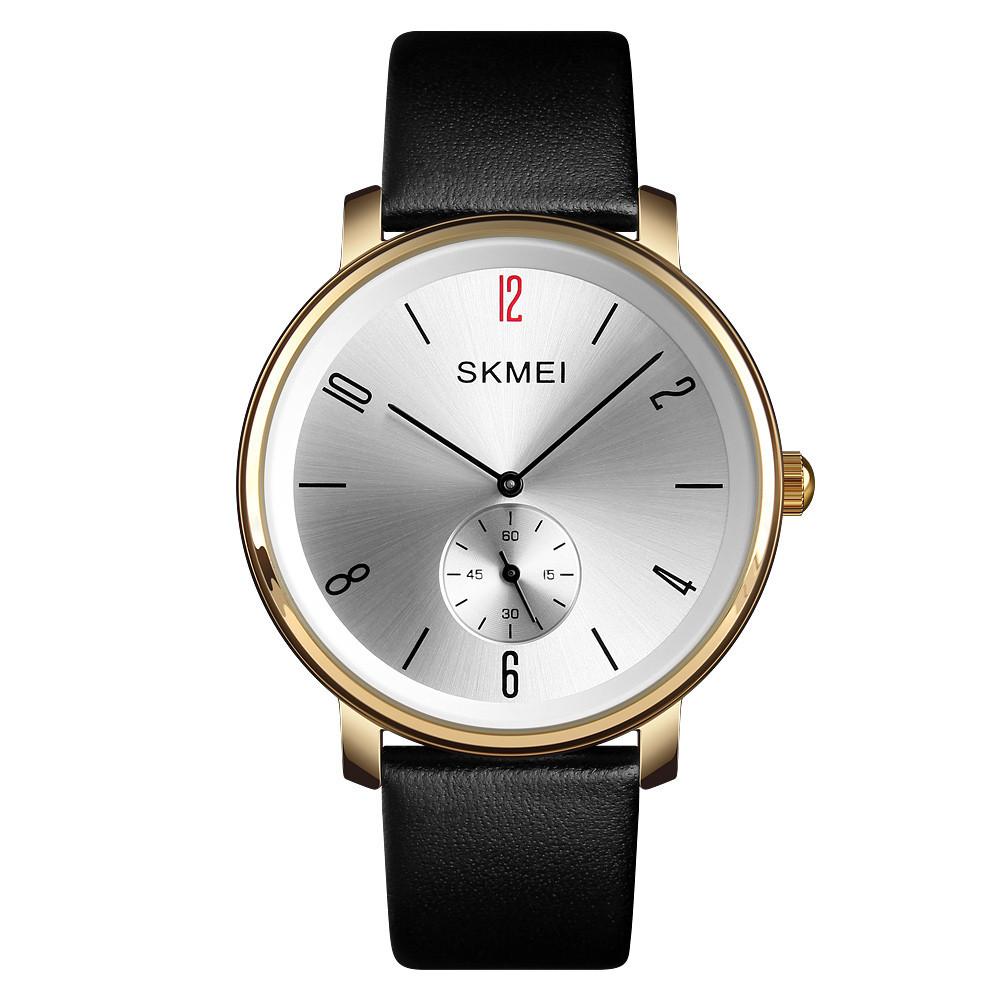 Классические мужские часы Skmei (Скмей)1398 Black Gold