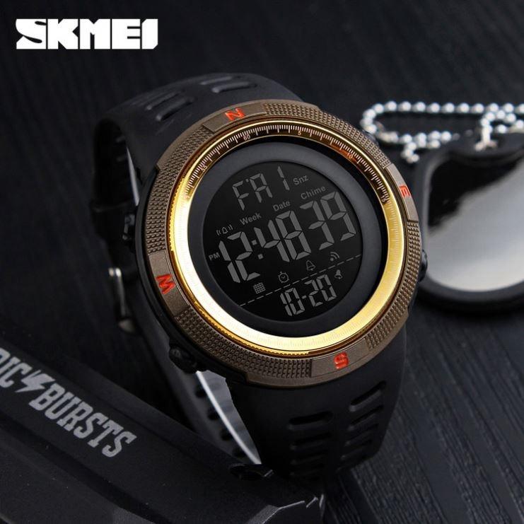 Оригинальные спортивные мужские часы Skmei (Скмей) Amigo 1251Gold