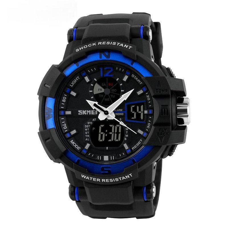 Cпортивные мужские часы Skmei (Скмей) 1040 Blue