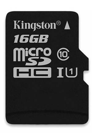 Карта памяти Kingston MicroSDHC 16GB Class 10, фото 2
