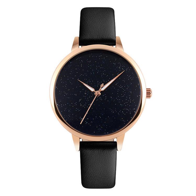 Оригинальные женские часы SKMEI (СКМЕЙ) MOON 9141 Black
