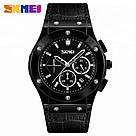 Класичні чоловічі годинники Skmei (Скмей) 9157 Black, фото 3