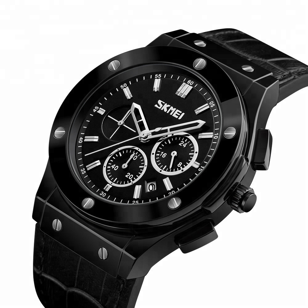 Класичні чоловічі годинники Skmei (Скмей) 9157 Black