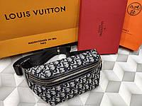 Женская сумка-бананка копия Диор Dior ткань текстиль дорогой Китай